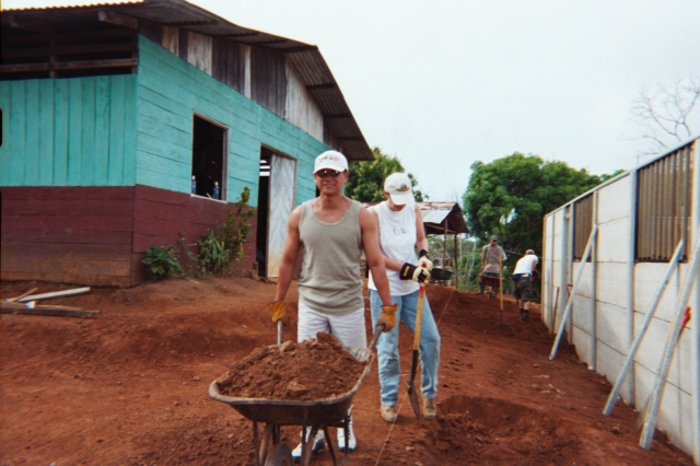 Building a church,  Costa Rica 2002
