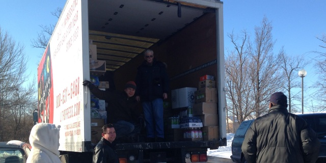 The extreme cold did not stop the leaders and volunteers to address hunger.