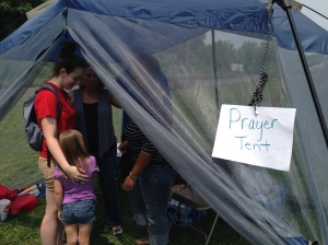 It has been a tradition for FHL events to have a prayer team to pray as a way to share the love of God.