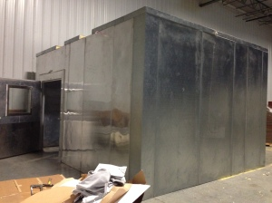 It took 6 hours for 4 volunteers to put this large refrigeration system.